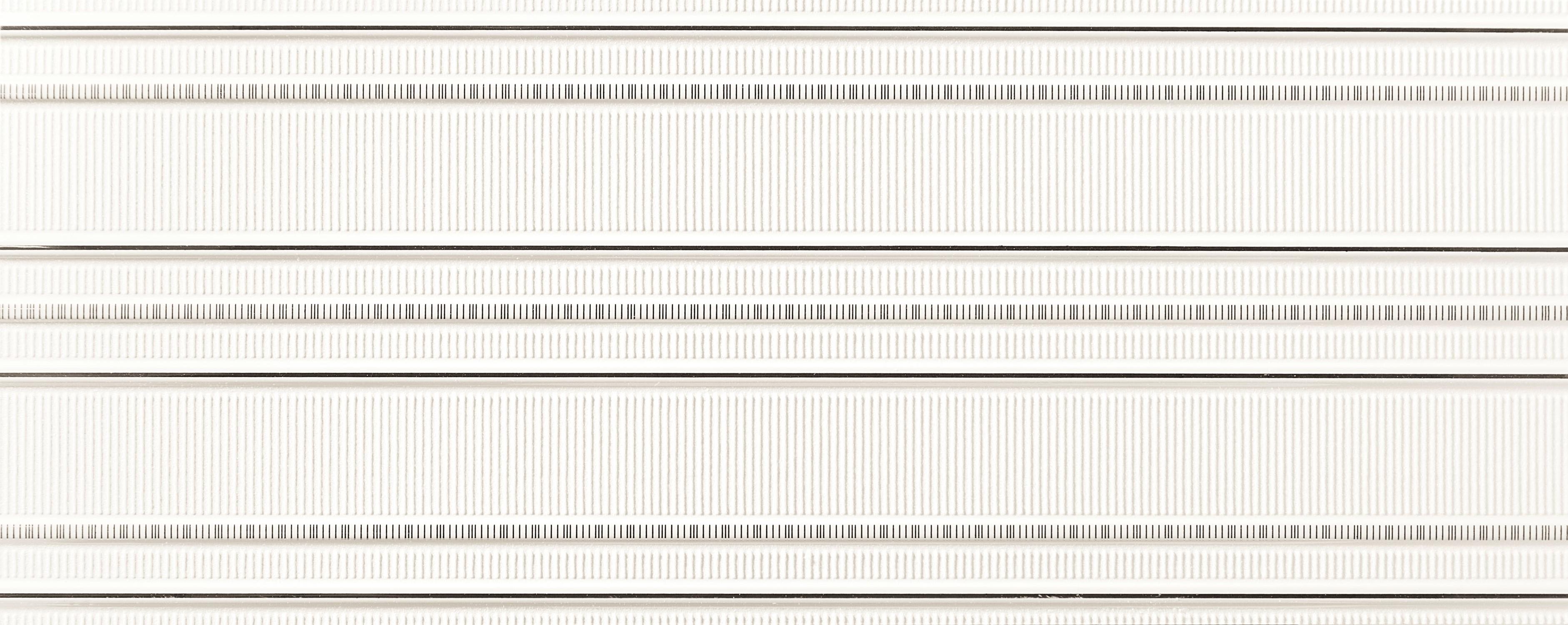Tubadzin ABISSIO White 1 dekor 23,7×7,8