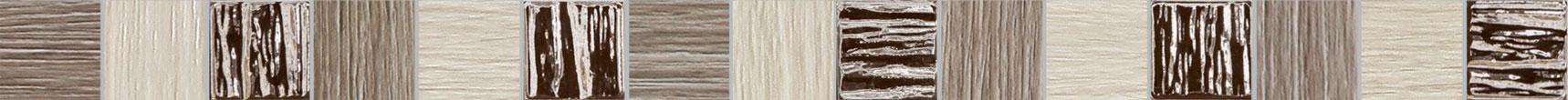 Tubadzin BILOBA Grey szegő 60,8×3,9