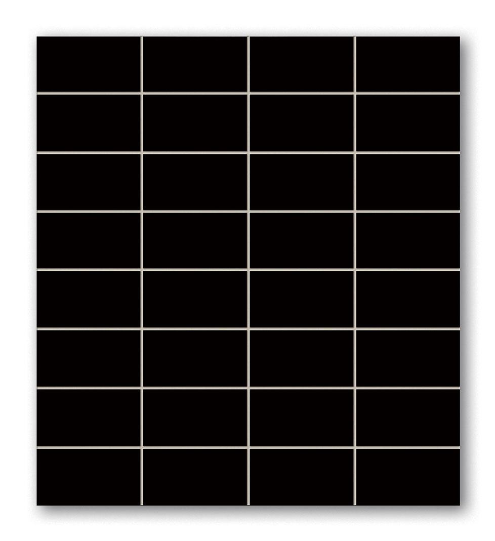 Tubadzin BLACK&RED Black_négyszögletű mozaik 30×30