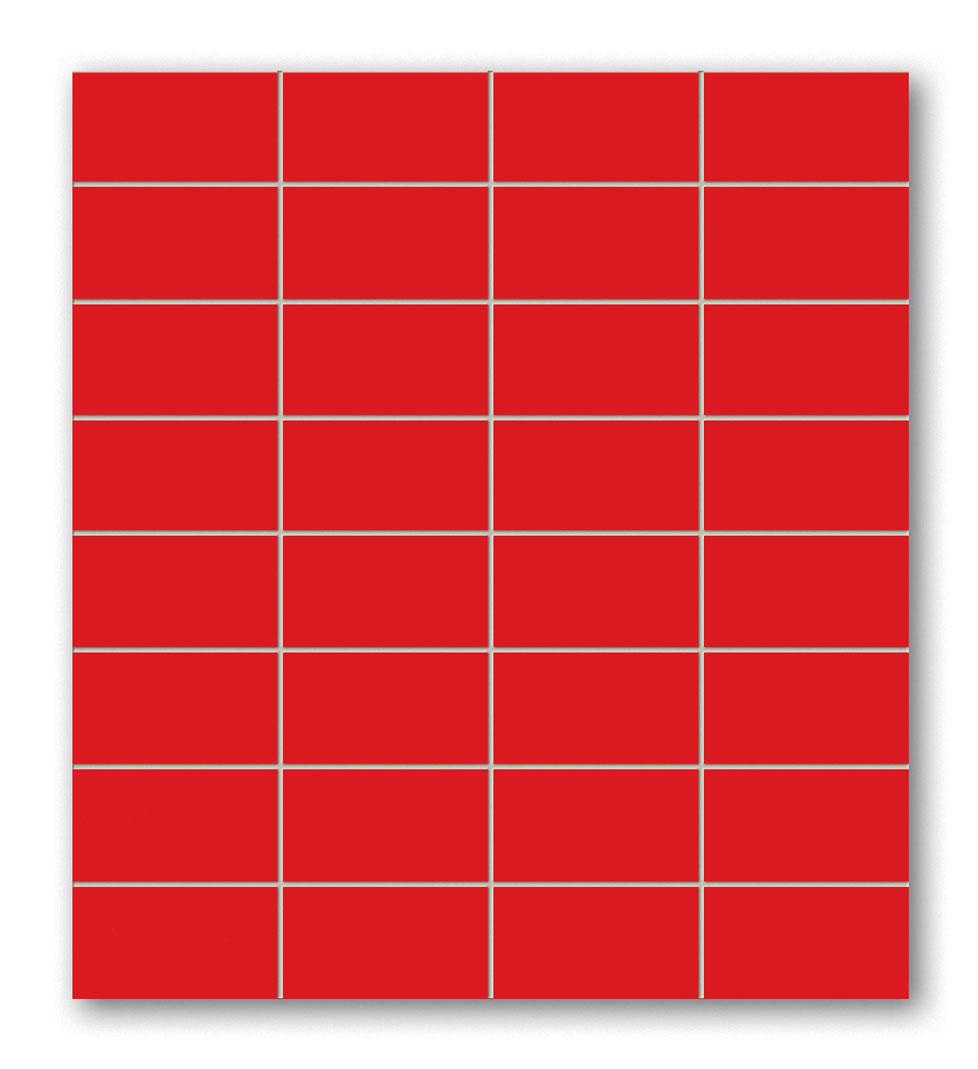 Tubadzin BLACK&RED Red négyszögletű mozaik 30×30