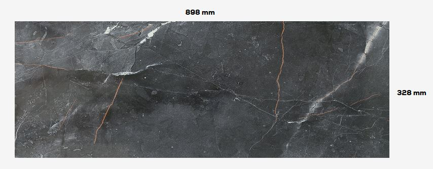 Brainstorm black Wall tile