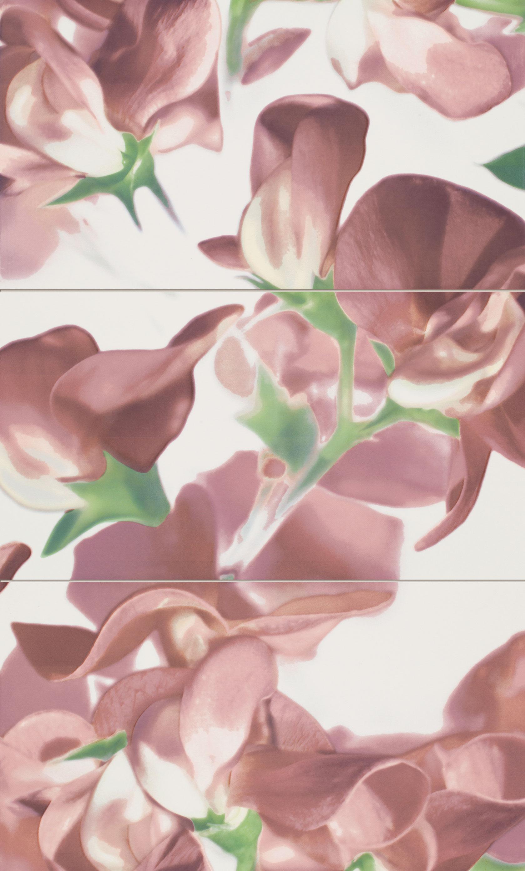 Tubadzin CARMINE Bloom Carmine 3 darabos dekor 59,3×98,5