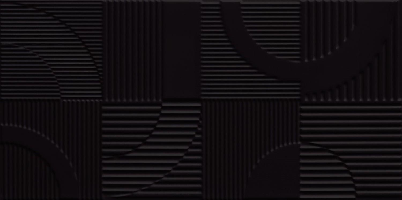 Travertino COOL Round Black STR dekor 59,8×29,8