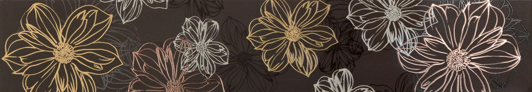 Tubadzin ELEGANT FLOWER 3 szegő 60×10,8