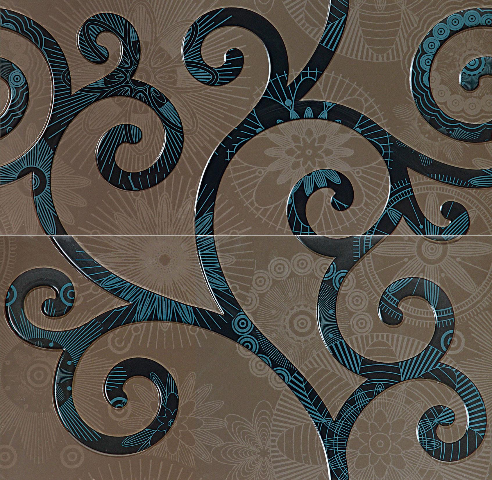 Tubadzin ELLE Blue dekor 59,8×59,8