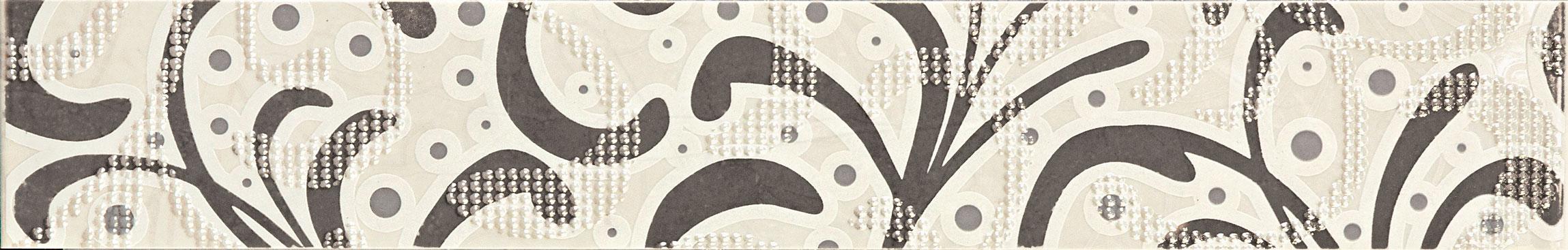 Tubadzin GOBI Ornament Grey szegő 60,8×9,8