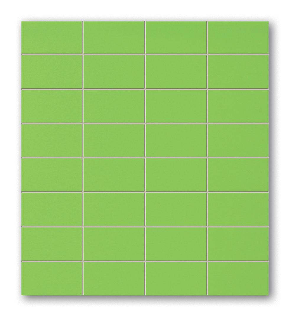 Tubadzin POP Green négyszögletű mozaik 29,5×32,7