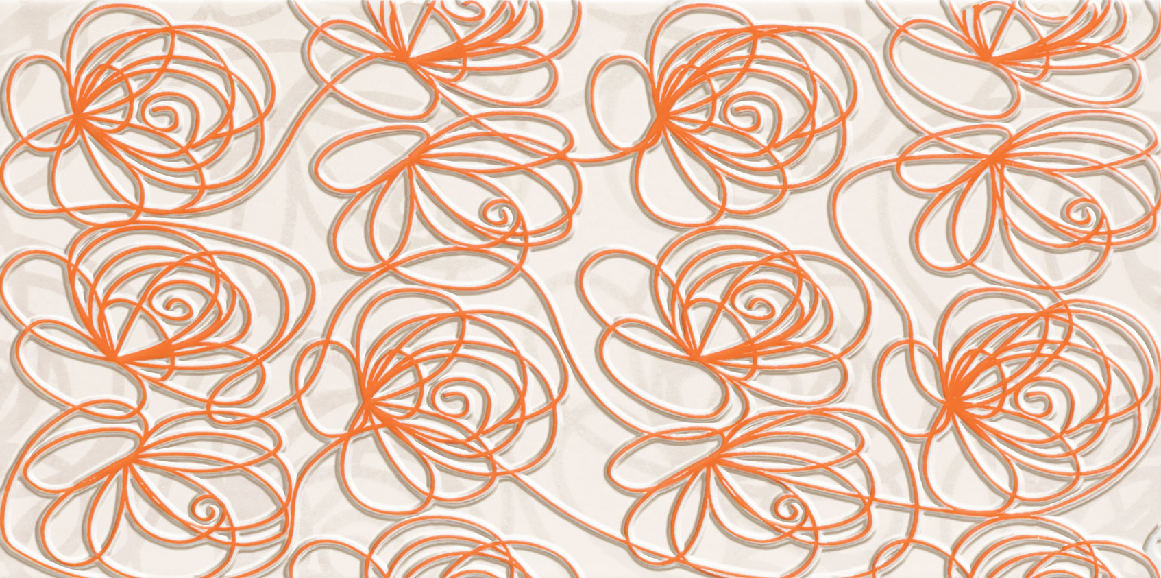 Tubadzin WAVE Modern Orange 44,8×22,3
