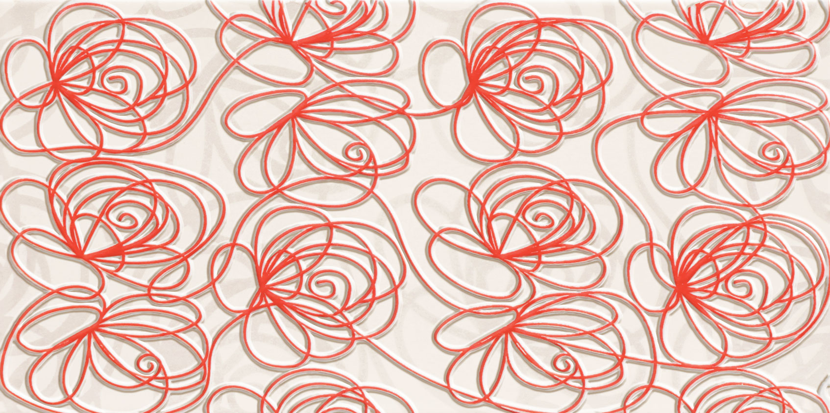 Tubadzin WAVE Modern Red 44,8×22,3