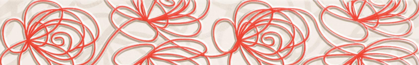Tubadzin WAVE Modern Red szegő 44,8×7,1