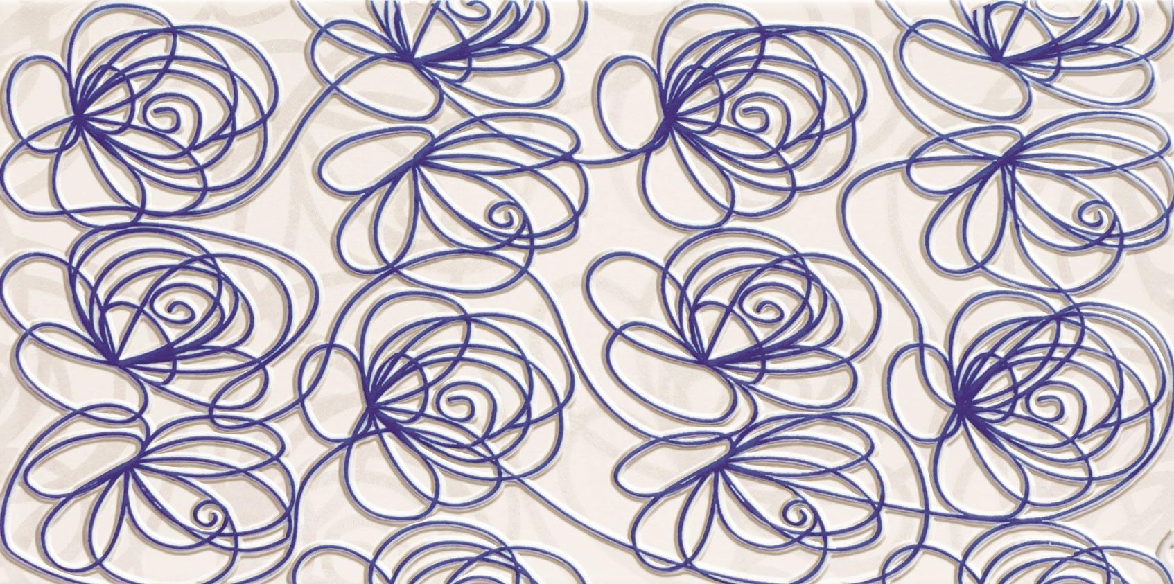 Tubadzin WAVE Modern Violet 44,8×22,3