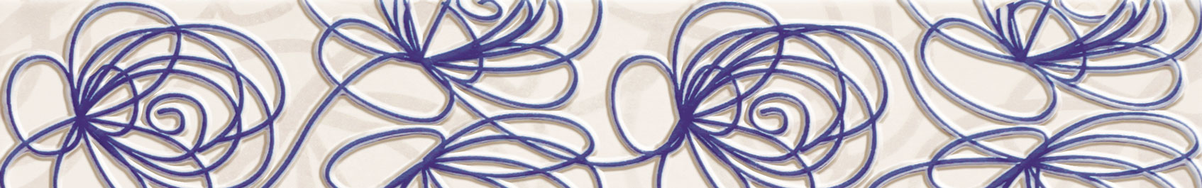Tubadzin WAVE Modern Violet szegő 44,8×7,1