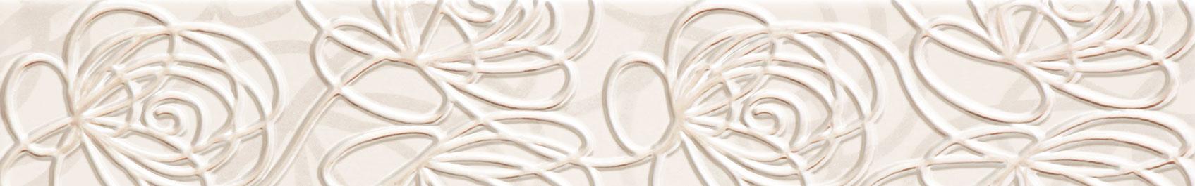Tubadzin WAVE Modern White szegő 44,8×7,1