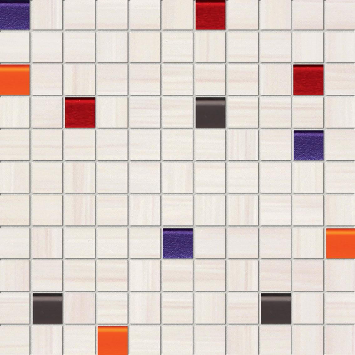 Tubadzin WAVE White mozaik 30×30