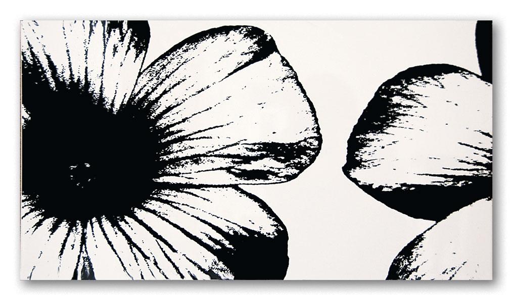 Tubadzin WHITE&BLACK Floral White dekor 59,3×32,7