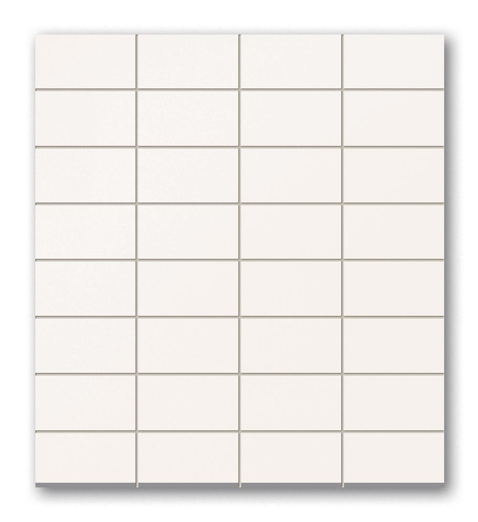 Tubadzin WHITE&BLACK White_négyszögletű mozaik 29,5×32,7